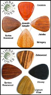 Wooden Plectrum, Wood Picks, Timbretones, Exotic Guitar PIcks